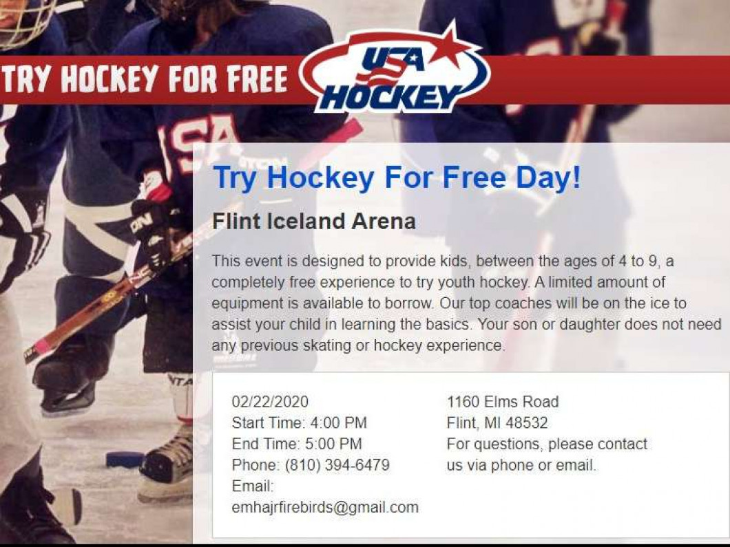 Try Hockey For Free Day!
